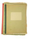 Carpetas viejas aisladas en el fondo blanco Fotografía de archivo libre de regalías