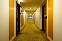 Carpeted corridor Royalty Free Stock Images