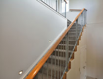 Carpeted staircase Stock Photo