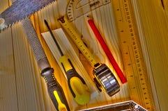 Carpetry tools Royalty Free Stock Photo