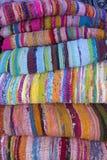 Carpets. In a flea market Stock Photos