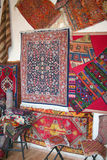 Carpets at bazaar Stock Photography