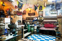 Carpets, ceramics in a traditional Persian restaurant Stock Images