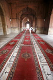 Carpets in corridor, Jama Masjid Royalty Free Stock Photo