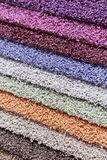 Carpets of different colours Stock Photo