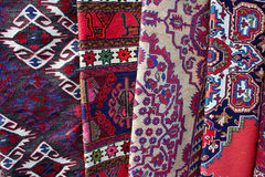 Carpets at market Royalty Free Stock Photos