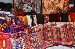 Carpets in the market Stock Images