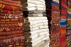 Carpets in Marrakech Royalty Free Stock Photography