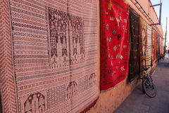 Carpets in Marrakesh Royalty Free Stock Image