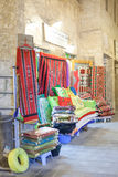 Carpets and pillows at the Souq Waqif, Doha Stock Image
