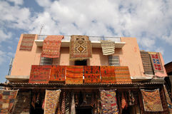 Carpets for sale in Marrakech Stock Image