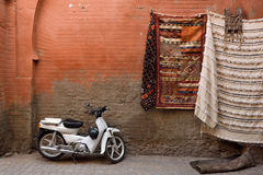 Carpets for sale in Marrakesh, Morocco Stock Photography