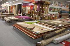 Carpets in the store Stock Photos