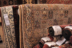 Carpets in store Stock Image