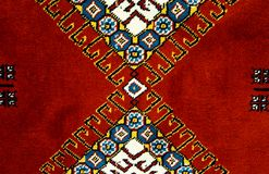 Carpets woven by hand with colorful patterns of beautif. royalty free stock photography