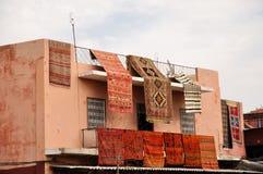 carpetsin Μαρακές Ασιάτης Στοκ φωτογραφία με δικαίωμα ελεύθερης χρήσης