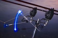 Carpfishing fishing strike! Stock Photo
