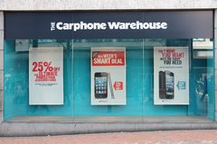 Carphone Warehouse Lizenzfreie Stockfotos