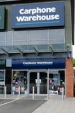 Carphone Warehouse entreposé dans Prestatyn image libre de droits