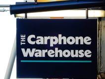 Carphone Warehouse-Hängeschild Lizenzfreie Stockbilder