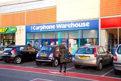 The carphone warehouse. LONDON - JANUARY 23rd: The exterior of the carphone warehouse on January the 23rd, 2015, in London, England, UK. The carphone warehouse Royalty Free Stock Images