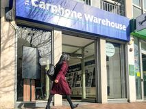 Carphone Warehouse-opslag stock afbeelding