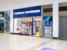Carphone warehouse store. Carphone Warehouse Group PLC, known as Carphone Warehouse, is an independent mobile phone retailer, with over 1,700 stores across Royalty Free Stock Photos