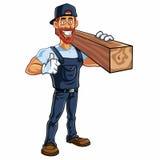 Carpinteiro Cartoon Mascot Vetora Imagem de Stock
