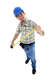 Carpinteiro com medidor Imagem de Stock