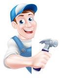 Carpinteiro do martelo dos desenhos animados Fotos de Stock