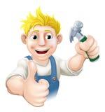 Carpinteiro dos desenhos animados ou indivíduo da construção ilustração stock
