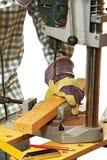 Carpinteiro no trabalho Imagens de Stock