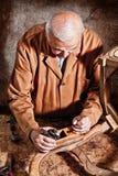 Carpinteiro no trabalho Foto de Stock Royalty Free