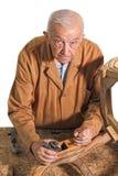 Carpinteiro sênior Fotografia de Stock