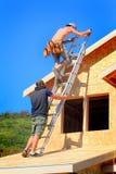 Carpinteiro Teamwork Fotografia de Stock