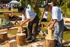 Carpinteiro tradicional H da cultura dos cumes franceses Fotos de Stock