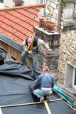 Carpinteiros no trabalho Foto de Stock