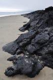 Carpinteria plaża, Smołowcowej jamy park, centrali wybrzeże Zdjęcia Royalty Free