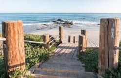 Carpinteria wybrzeża schodki fotografia royalty free