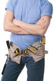 Carpintero con las herramientas