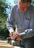 Carpintero en el trabajo Fotos de archivo libres de regalías