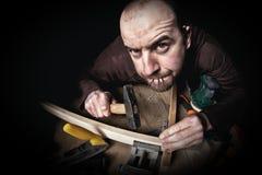 Carpintero en el trabajo Fotografía de archivo libre de regalías
