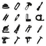 Carpintero Icons Freehand Fill Fotografía de archivo libre de regalías