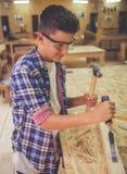 Carpintero joven hermoso Imagenes de archivo