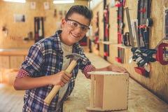 Carpintero joven hermoso Imagen de archivo