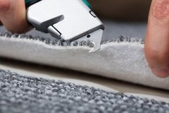 Carpintero Shaping Carpet fotos de archivo