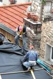 Carpinteros en el trabajo Foto de archivo