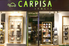 Carpisa陈列窗 库存照片