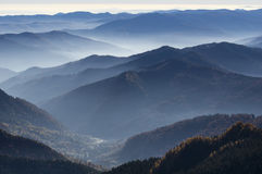 Carpoathians mountain range Royalty Free Stock Image