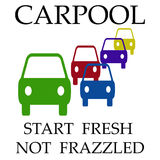 Carpool frazzle Stock Foto's
